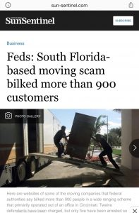 moving scams in florida