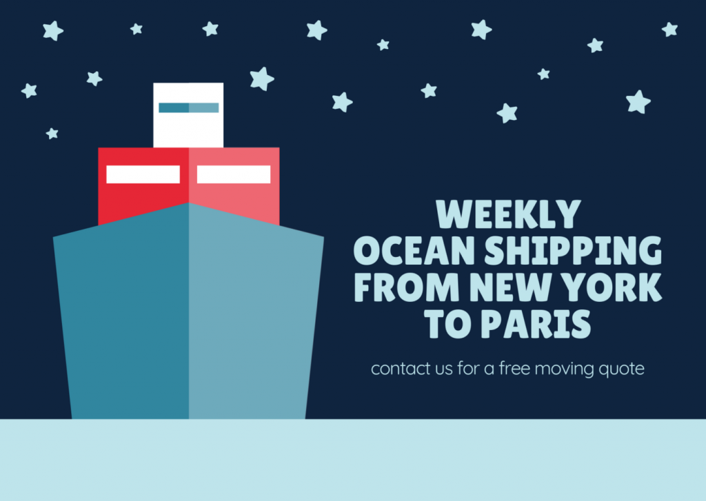Ocean freight is the least expensive way to move to paris