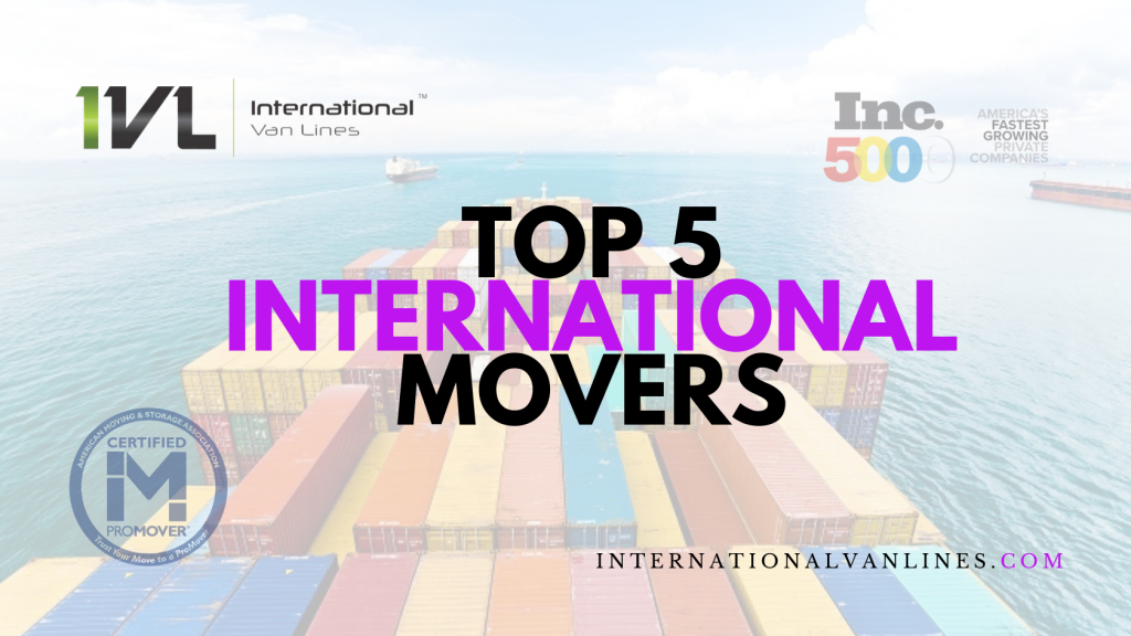 Find the top five movers and freight forwarders