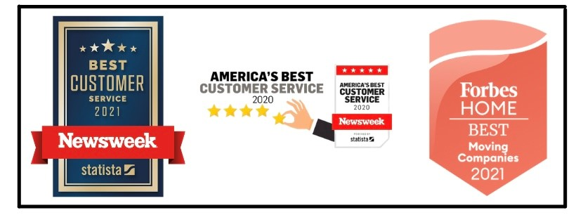 Rated best moving company by Forbes